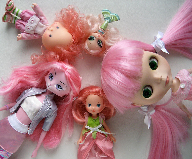 Dolls with pink hair