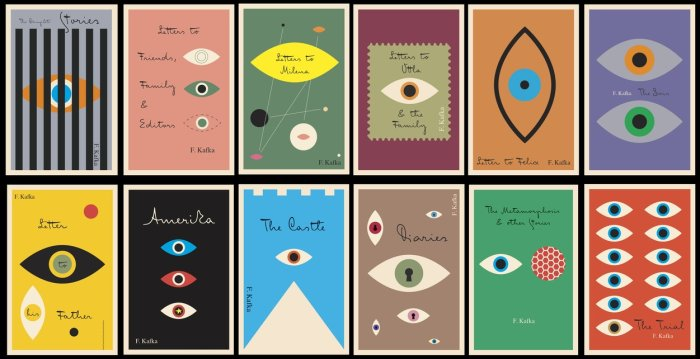 Kafka Covers by Mendelsund.